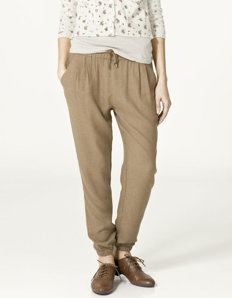 beżowe spodnie ZARA - wiosna-lato 2011