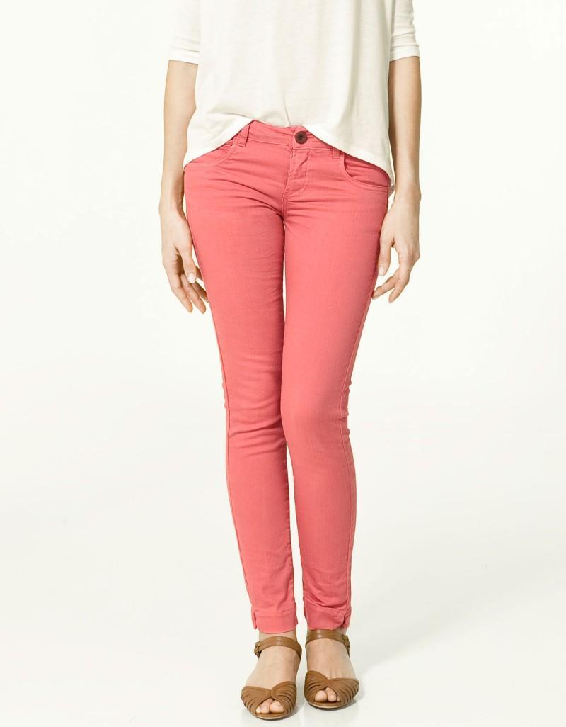 różowe spodnie ZARA rurki - wiosna-lato 2011