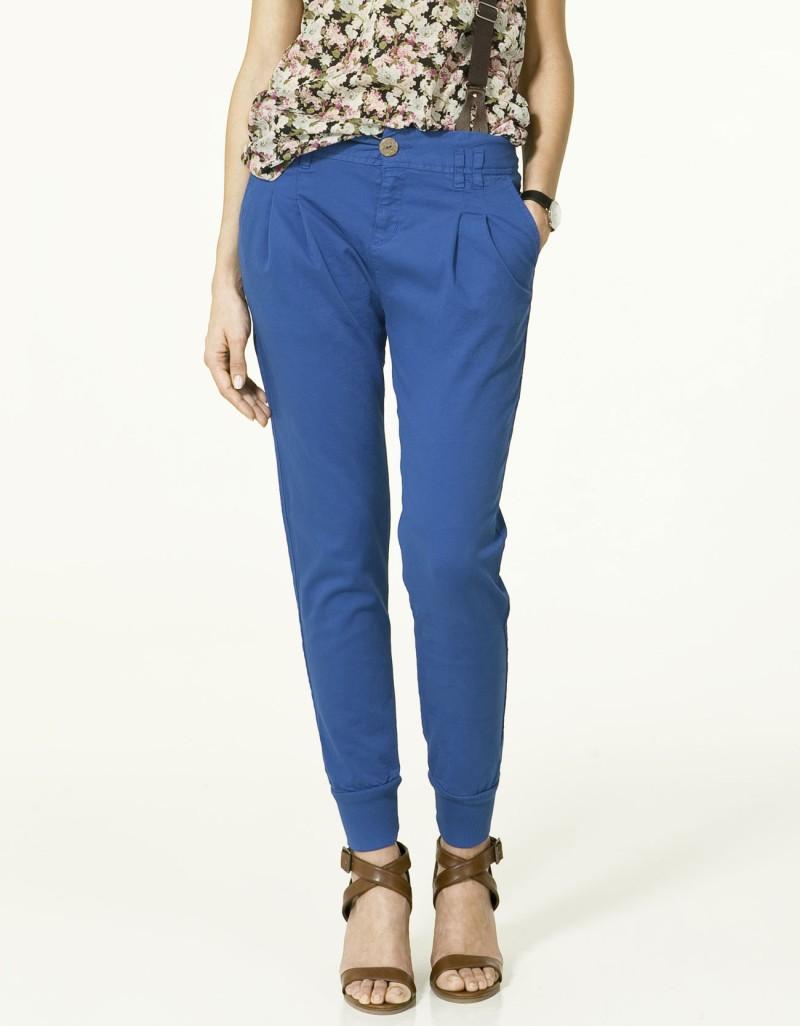 niebieskie spodnie ZARA - wiosna-lato 2011