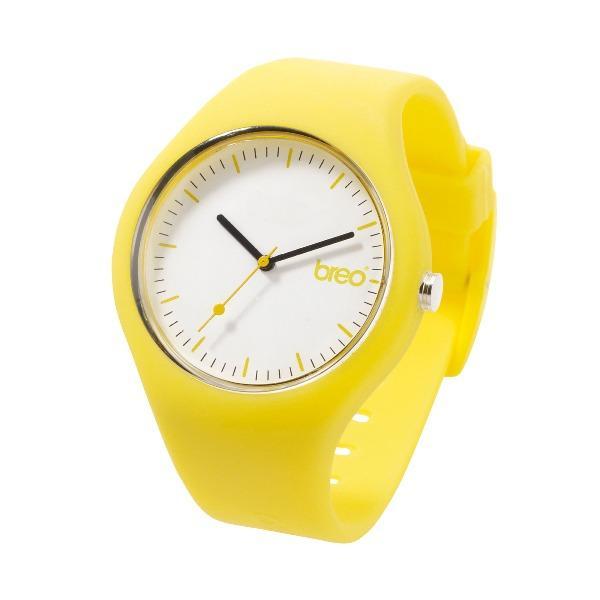 Żółto-biały zegarek - Breo