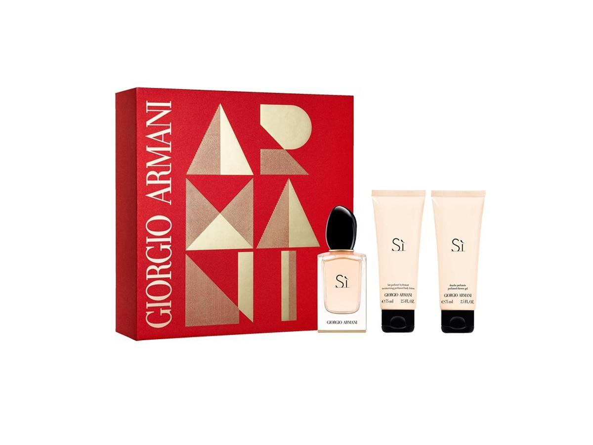 Świąteczny zestaw prezentowy Giorgio Armani Si - z nutami zapachowymi czarnej porzeczki, białego piżma i szypru