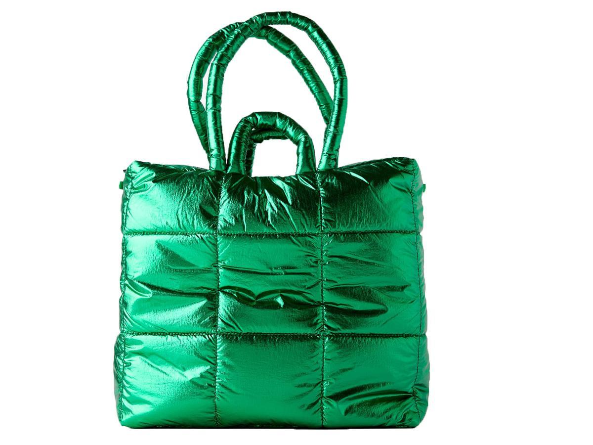 zielona metaliczna torebka Zara