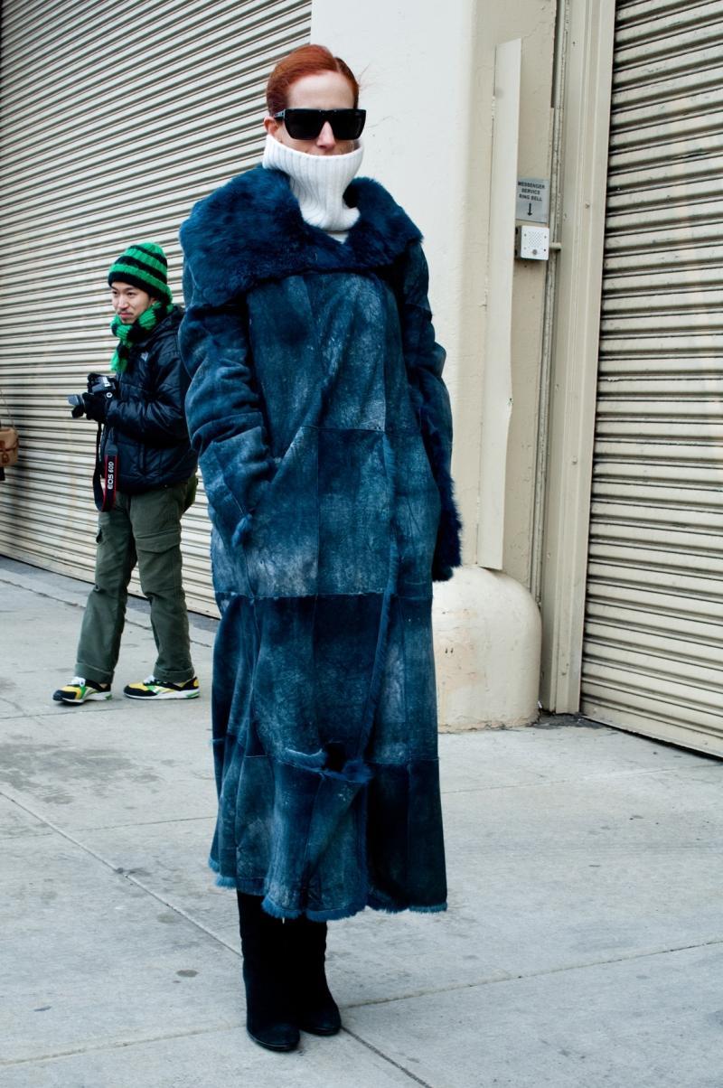 Moda uliczna Nowy Jork, zima 2013
