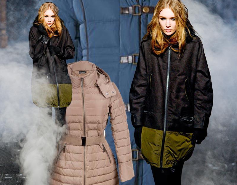 Zimowe puchowe płaszcze 2012