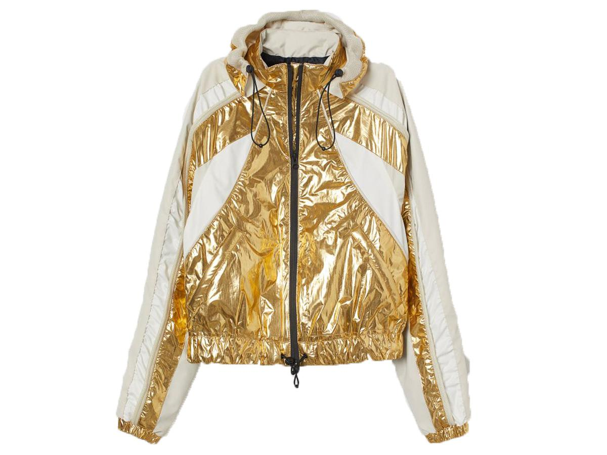 złota kurtka H&M