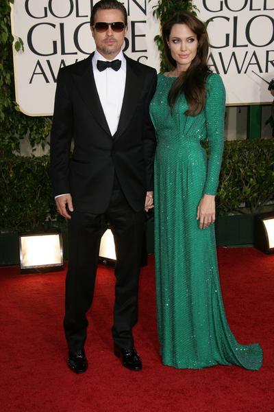 Brad Pitt, Angelina Jolie - Złote Globy 2011