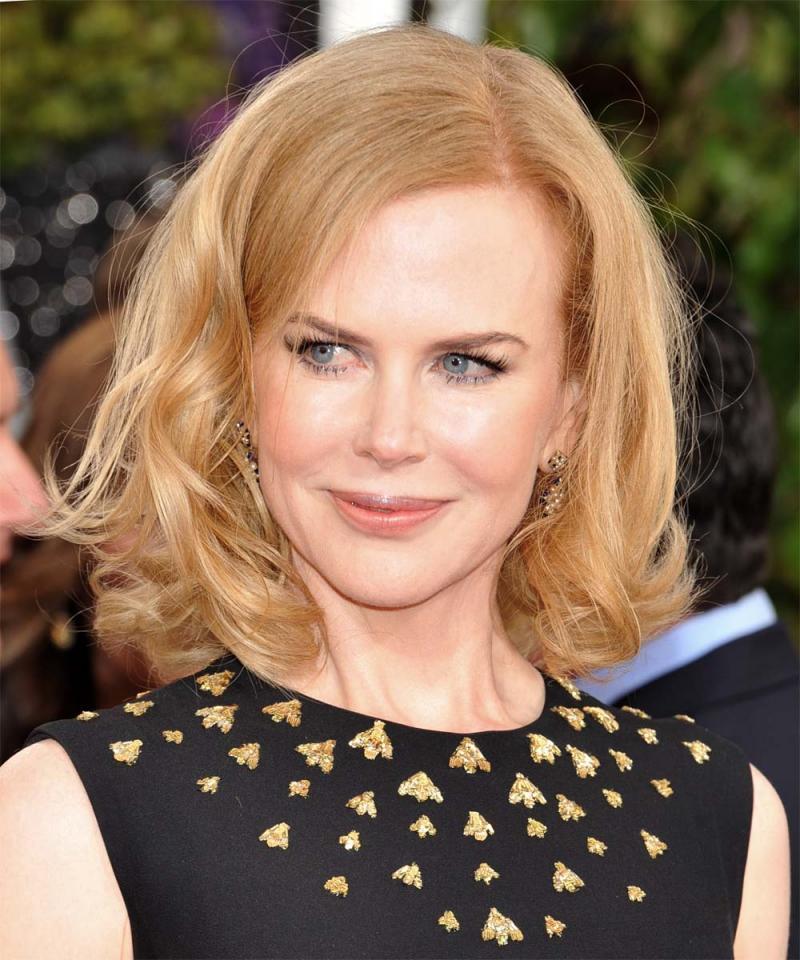 Złote Globy 2013 - Nicole Kidman, makijaże i fryzury gwiazd