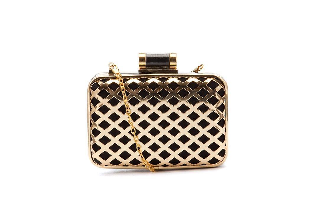 5f778fa722532 torebka pudełkowa New Look w kolorze złotym - śliczne torebki ...