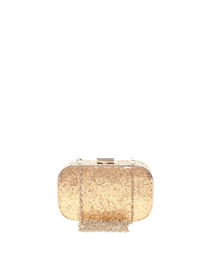 478c6629f6e85 pudełkowa torebka Asos w kolorze złotym - śliczne torebki - Złote ...