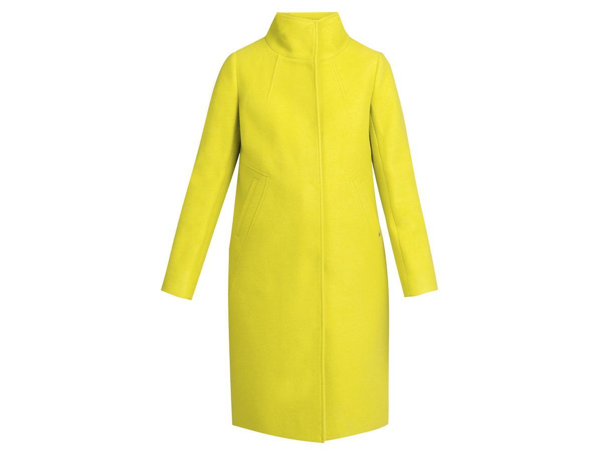 żółty płaszcz Monnari