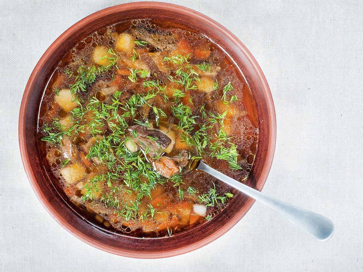 przepis na zupę grzybową