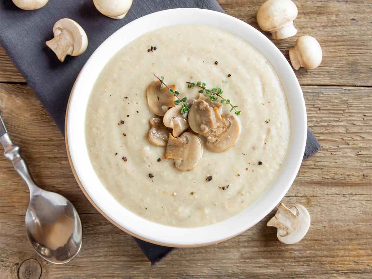 przepis na zupę krem z pieczarek