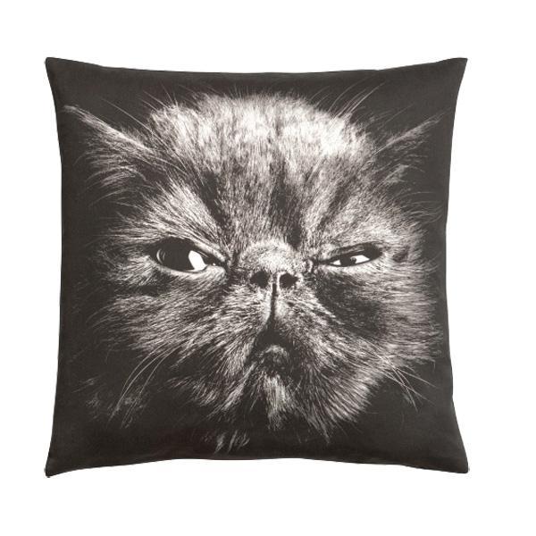 Motywy zwierzęce w aranżacji wnętrz: Poduszka z wizerunkiem kota, H&M Home