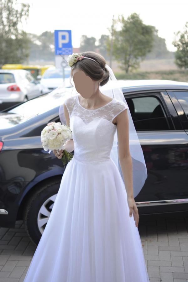 32 34 36 Biała Suknia ślubna Wyjątkowa Margarett Finezja Xxs Xs