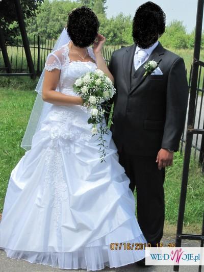 Biała sukienka ślubna