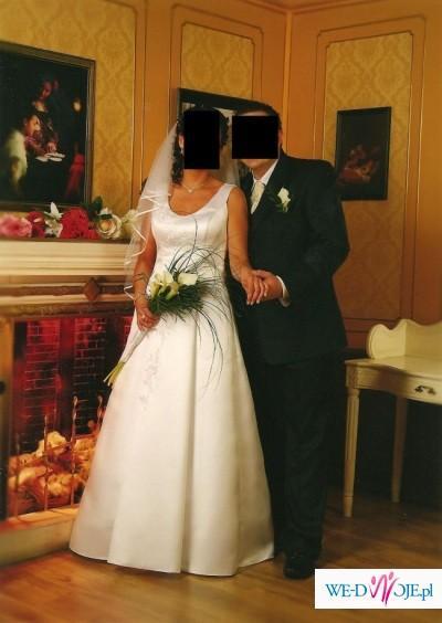 biała suknia ślubna + dodatki gratis!!!