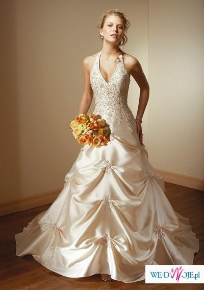 Biała suknia ślubna roz. 42-44 (wzrost 168-170)+ gratisy