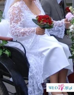 Biała suknia ślubna rozmiar 46-48