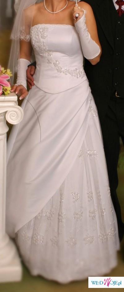 Biała Suknia ślubna Z Domu Mody Giselle Suknie ślubne Zdjęcie 1