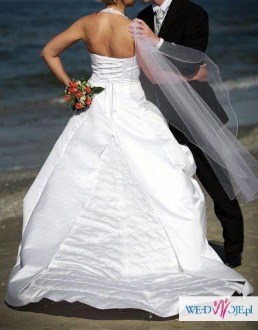 Biała Suknia ślubna Z Trenem Suknie ślubne Zdjęcie 1