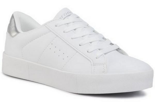 białe sznurowane sneakersy