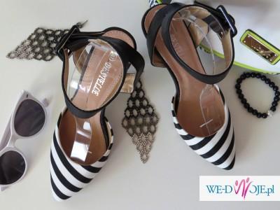 64ccfbb3 Biało-czarne szpilki sandały jak ZARA 37 - Buty - Zdjęcie 1 ...