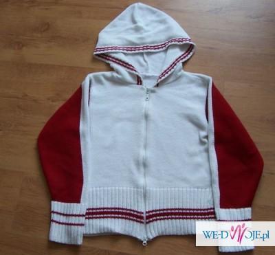 Biało-czerwony sweter,rozm.38 - WYPRZEDAŻ !