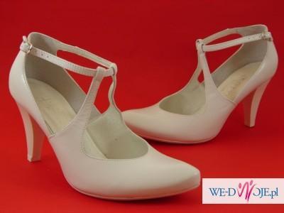 Buty ślubne Białe Kotyl 38 Dodatki Do Sukni Zdjęcie 1