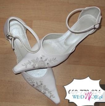 Buty ślubne Rozm 36 -37 skóra naturalna