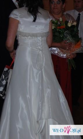 Cudowna suknia ślubna! Rozm 42(szyta na 175cm)