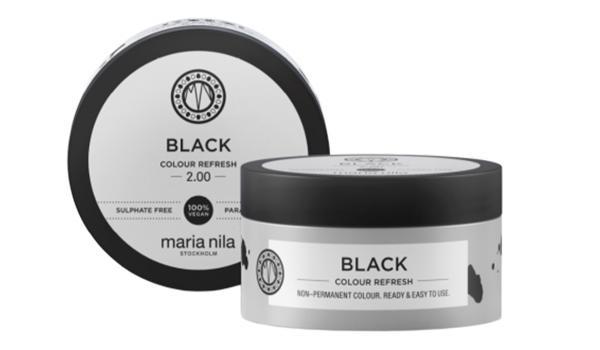 Czarna maska do włosów