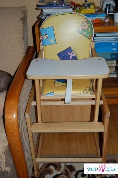Drewniane krzesełko do karmienia Kubuś Puchatek