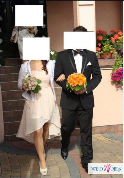 Garnitur ślubny + koszula + muszka