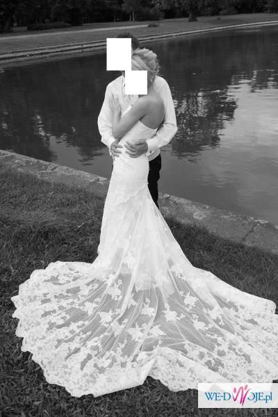 Hiszpańska Suknia Ślubna White One 424 rozm. 34/36