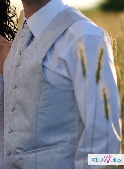 kamizelka ślubna + musznik