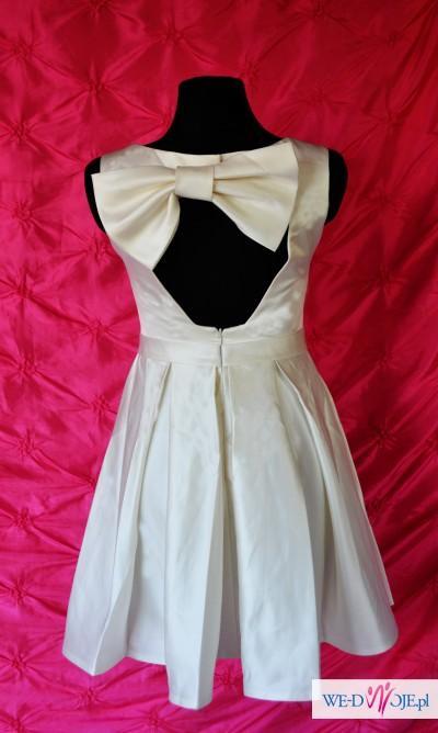 Krótka suknia ślubna ślub cywilny poprawiny