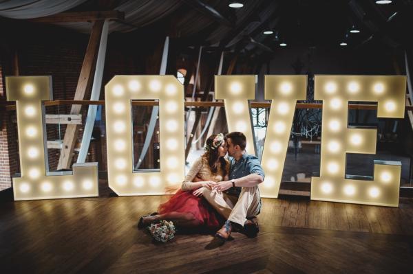 Love Wynajem Dekoracja Sala Wesele ślub Litery świecące świetlne