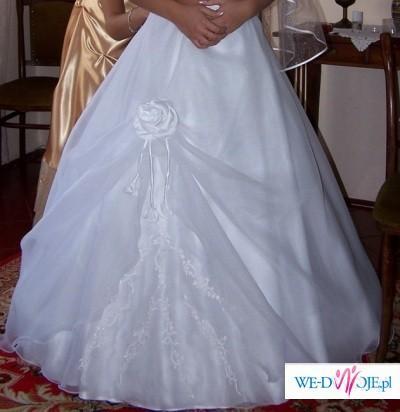 mam do sprzedania przepiękną suknie ślubną+bolerko+welon