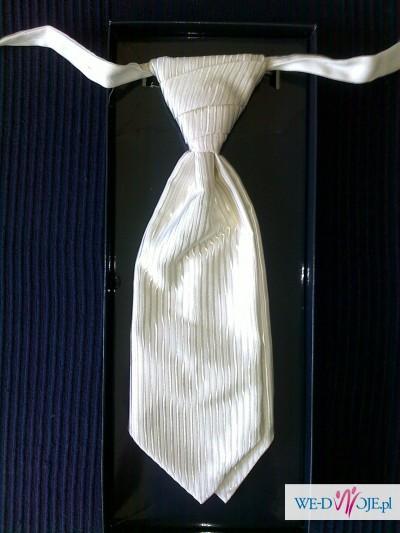 męska kamizelka ślubna z krawatem kaskadowym