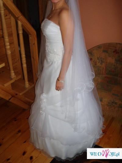 nowa suknia ślubna rozzmiar 36/38 (gorset + spódnica) ładna i bardzo wygodna