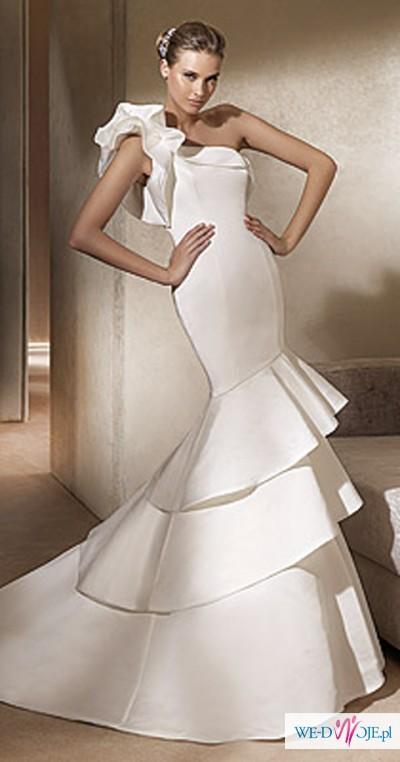 NOWOCZESNA, ORGINALNA, EKSKLUZYWNA suknia ślubna r. 36 PRONOVIAS model ALISON
