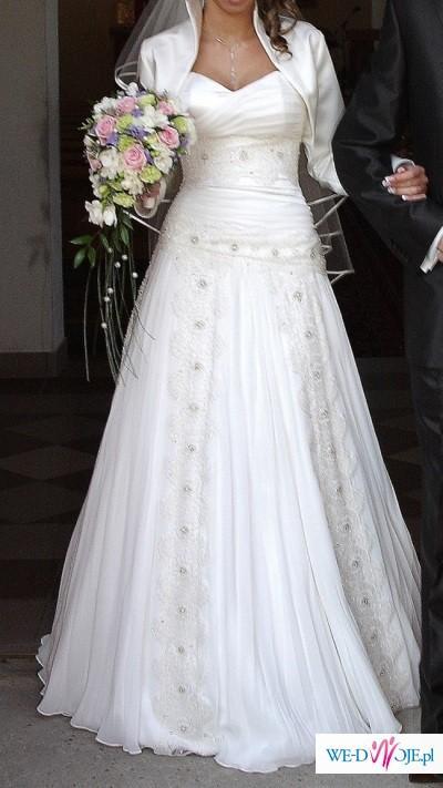 20741b8fe0 Oryginalna suknia ślubna - Suknie ślubne - Zdjęcie 1 - Ogłoszenie ...