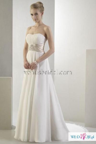 Oryginalna suknia ślubna VENUS styl EMPIRE r.38