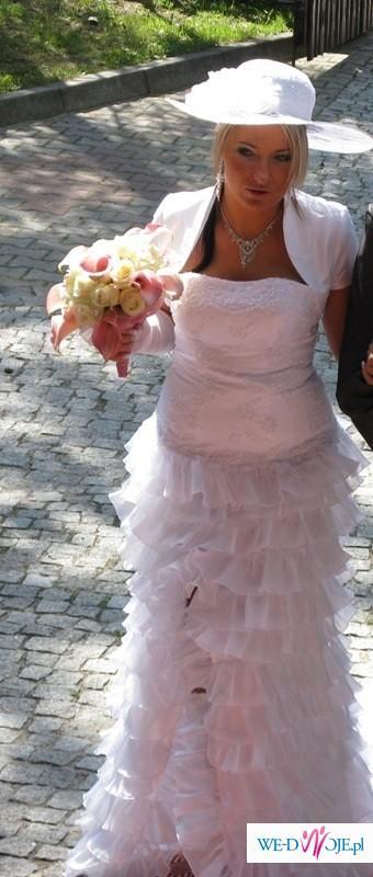 f5a3a99f56 Oryginalna suknia z salonu sukien ślubnych Karina + bolerko - Suknie ...