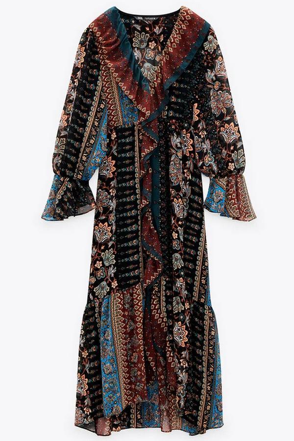 patchworkowa sukienka z Zary