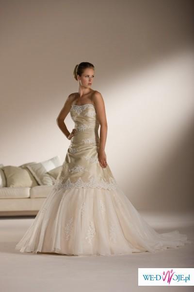 Piękna, biała suknia ślubna Sincerity 3511, stan bardzo dobry