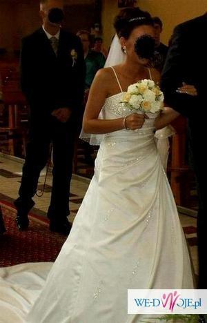 Piekna sukienka ślubna z salony Lisa Ferrera