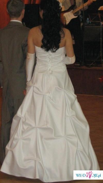 Piękna suknia ślubna  biel,ecru,capucino
