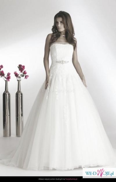 Piękna suknia ślubna Pure by Elia Moreni ! bolerko GRATIS !