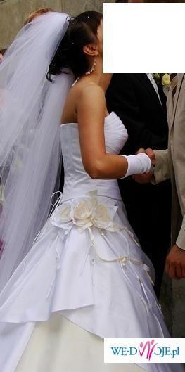 piękna suknia SPOSA DRAPERIA plus gratisy!!!